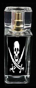 Botella de perfume pirata